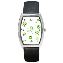 Green Eyes Barrel Style Metal Watch by Valentinaart