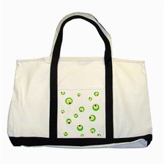 Green Eyes Two Tone Tote Bag by Valentinaart