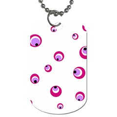 Purple Eyes Dog Tag (one Side) by Valentinaart