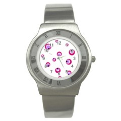 Purple Eyes Stainless Steel Watch by Valentinaart
