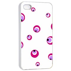Purple Eyes Apple Iphone 4/4s Seamless Case (white) by Valentinaart