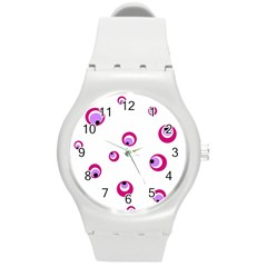 Purple Eyes Round Plastic Sport Watch (m) by Valentinaart