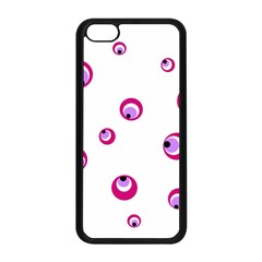 Purple Eyes Apple Iphone 5c Seamless Case (black) by Valentinaart