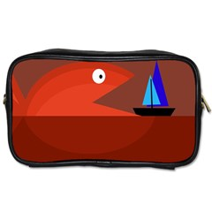 Red Monster Fish Toiletries Bags