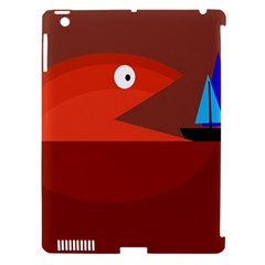 Red Monster Fish Apple Ipad 3/4 Hardshell Case (compatible With Smart Cover) by Valentinaart