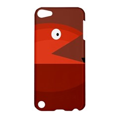 Red Monster Fish Apple Ipod Touch 5 Hardshell Case by Valentinaart