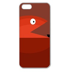 Red Monster Fish Apple Seamless Iphone 5 Case (clear) by Valentinaart