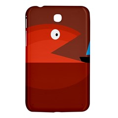 Red Monster Fish Samsung Galaxy Tab 3 (7 ) P3200 Hardshell Case  by Valentinaart