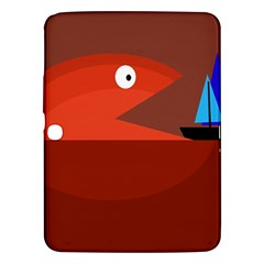 Red Monster Fish Samsung Galaxy Tab 3 (10 1 ) P5200 Hardshell Case  by Valentinaart