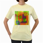 Colorful geometrical design Women s Yellow T-Shirt Front