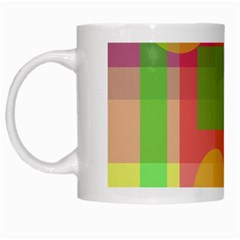 Colorful Geometrical Design White Mugs by Valentinaart