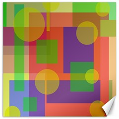 Colorful Geometrical Design Canvas 12  X 12   by Valentinaart