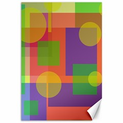 Colorful Geometrical Design Canvas 12  X 18   by Valentinaart