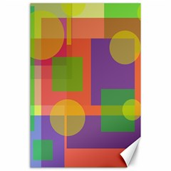 Colorful Geometrical Design Canvas 24  X 36  by Valentinaart