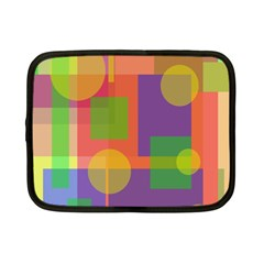 Colorful Geometrical Design Netbook Case (small)  by Valentinaart