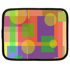Colorful Geometrical Design Netbook Case (xl)  by Valentinaart