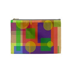 Colorful Geometrical Design Cosmetic Bag (medium)  by Valentinaart