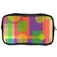 Colorful Geometrical Design Toiletries Bags