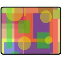 Colorful Geometrical Design Fleece Blanket (medium)  by Valentinaart
