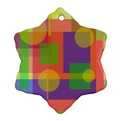 Colorful Geometrical Design Ornament (snowflake)  by Valentinaart
