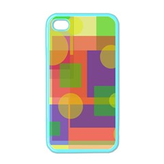 Colorful Geometrical Design Apple Iphone 4 Case (color) by Valentinaart