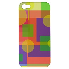 Colorful Geometrical Design Apple Iphone 5 Hardshell Case by Valentinaart