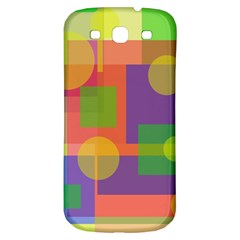 Colorful Geometrical Design Samsung Galaxy S3 S Iii Classic Hardshell Back Case by Valentinaart