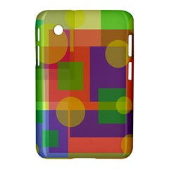 Colorful Geometrical Design Samsung Galaxy Tab 2 (7 ) P3100 Hardshell Case  by Valentinaart