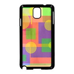 Colorful Geometrical Design Samsung Galaxy Note 3 Neo Hardshell Case (black) by Valentinaart
