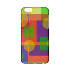 Colorful Geometrical Design Apple Iphone 6/6s Hardshell Case by Valentinaart