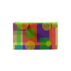Colorful Geometrical Design Cosmetic Bag (xs) by Valentinaart