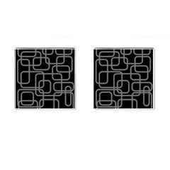 Black And Gray Decorative Design Cufflinks (square) by Valentinaart