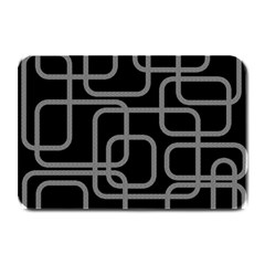 Black And Gray Decorative Design Plate Mats by Valentinaart
