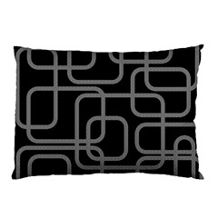 Black And Gray Decorative Design Pillow Case by Valentinaart