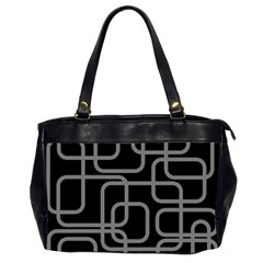 Black And Gray Decorative Design Office Handbags (2 Sides)