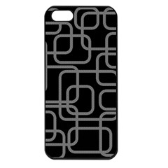 Black And Gray Decorative Design Apple Iphone 5 Seamless Case (black) by Valentinaart