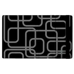 Black And Gray Decorative Design Apple Ipad 3/4 Flip Case by Valentinaart