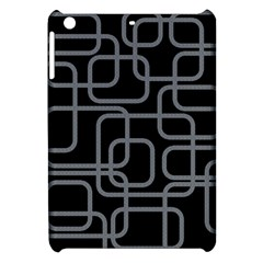 Black And Gray Decorative Design Apple Ipad Mini Hardshell Case by Valentinaart