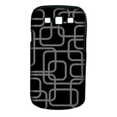 Black And Gray Decorative Design Samsung Galaxy S Iii Classic Hardshell Case (pc+silicone) by Valentinaart