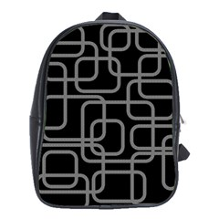 Black And Gray Decorative Design School Bags (xl)  by Valentinaart