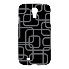 Black And Gray Decorative Design Samsung Galaxy S4 I9500/i9505 Hardshell Case by Valentinaart