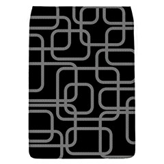 Black And Gray Decorative Design Flap Covers (s)