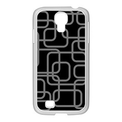 Black And Gray Decorative Design Samsung Galaxy S4 I9500/ I9505 Case (white) by Valentinaart