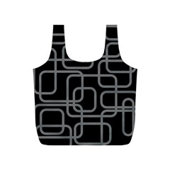 Black And Gray Decorative Design Full Print Recycle Bags (s)  by Valentinaart