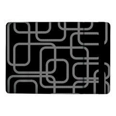 Black And Gray Decorative Design Samsung Galaxy Tab Pro 10 1  Flip Case by Valentinaart