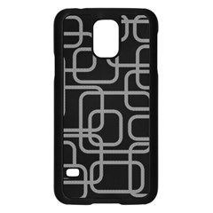 Black And Gray Decorative Design Samsung Galaxy S5 Case (black) by Valentinaart