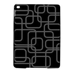 Black And Gray Decorative Design Ipad Air 2 Hardshell Cases by Valentinaart