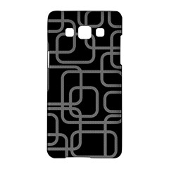 Black And Gray Decorative Design Samsung Galaxy A5 Hardshell Case  by Valentinaart