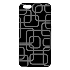 Black And Gray Decorative Design Iphone 6 Plus/6s Plus Tpu Case by Valentinaart