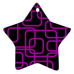 Purple And Black Elegant Design Star Ornament (two Sides)  by Valentinaart